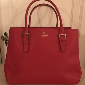 Authentic Kate Spade Large Tote, Red